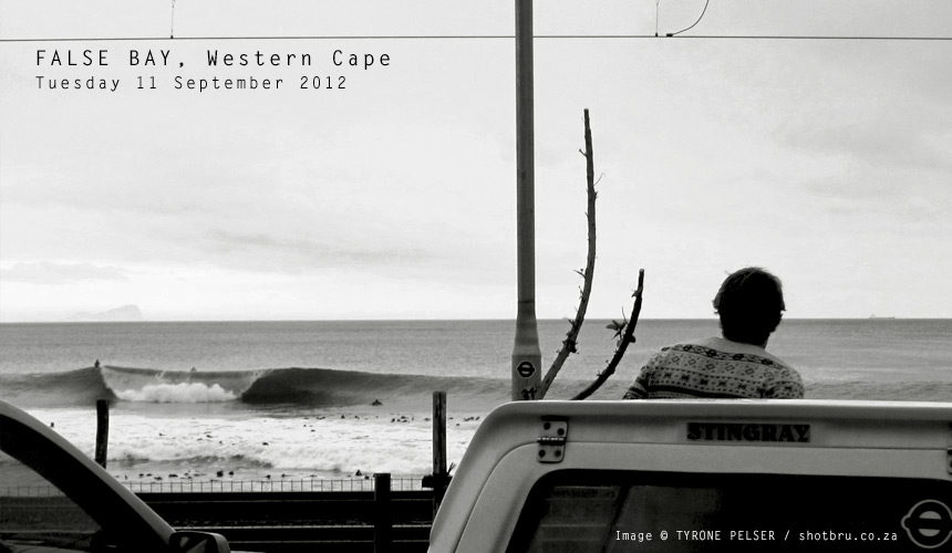 As we ease into the tail-end of 2012 it's going to be a case of keeping your eyes peeled in False Bay. The South Easter is yet to build up its Summery momentum, so there'll still be some windows of opportunity to score some clean peaks for the vigilant. Image by: Tyrone Pelser / shotbru.co.za