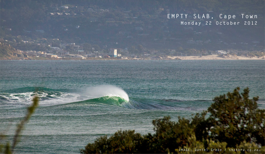 An early morning slab of glory, shot from the comfort of my dining room couch. - Shot Bru contributor Daniel Grebe got it all this AM.