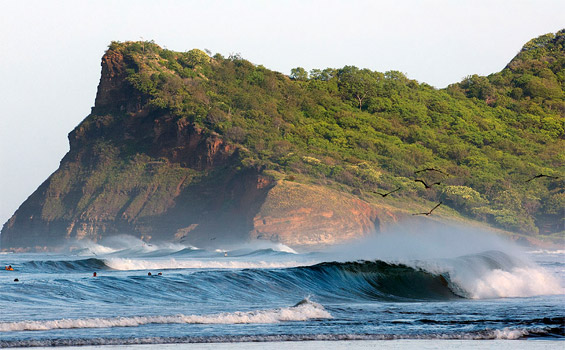 Nicaragua is a beautiful country with hundreds of miles of coastline filled with perfect warm-water waves and favorable offshore wind conditions year round.  Photo: ISA/ Rommel Gonzales