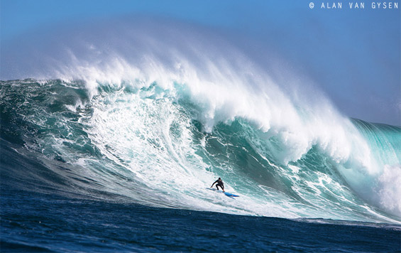 Twiggy on a clean, but frothy monster at Dungeons yesterday.