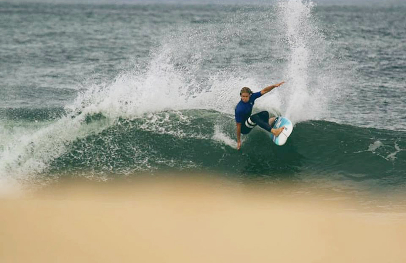 Jordy warming up before the event. ©Chris Bond